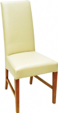 Marlow Wooden Side Chair with Upholstered Seat & Back in Cream